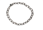 Stainless Steel Bracelet, Oval Links, Excellent for Charm Bracelets