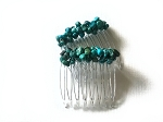 Turquoise Nugget Mini-Comb Pair 40mm CO484