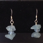 Aquamarine Nugget Earrings EAS1534