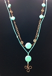 Turquoise and Magnesite with Copper Necklace NE1979