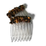 Tiger Eye Nuggets Mini-Comb Pair (40mm) CO504