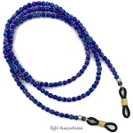 Blue Iris Eyeglass Chain 29 inch GL1705