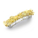 Iridescent Primrose Yellow Nugget Barrette 70mm BA441