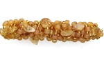 Golden Frost Hair Barrette with Gemstone Citrine 70mm BA1109
