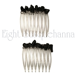 Obsidian Nuggets Mini-Comb Pair (40mm)  CO363