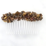 Tiger's Eye Nuggets and Czech Crystals (82mm) CO424