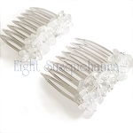 Moonstone Nuggets Mini-Comb Pair (40mm)  CO465