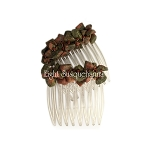 Unakite Nuggets Mini-Comb Pair (40mm) CO479