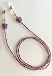 Glittering Gell-Effect Purple with Butterflies Glasses Leash Eyeglass Chain GL363