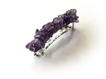 Amethyst Nugget-wrapped Barrette 70mm BA409