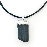 Black Tourmaline Pendant Necklace NE412