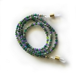 Eyeglass Chain, Green and Purple Glasses Leash  GL033101