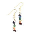 Gemstone Chakra Earrings GP  EA416