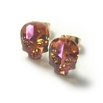 Crystal Skull Earrings Crystal Summer Blush Orange EA445