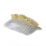 Iridescent Primrose Yellow Nugget Comb 70mm CO442
