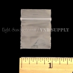 Reclosable 1x1 inch Plastic Zippy Bags Clear
