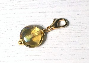 Golden Iris Glass Charm CH485