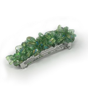 Iridescent Green Barrette 70mm BA452