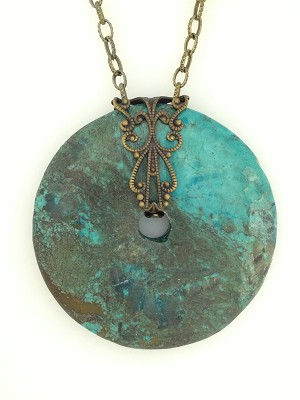 Turquoise and Bronze Necklace NE1993