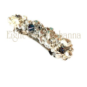 Silver Barrette with Crystallized Swarovski Elements