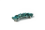 Turquoise Boho Beadwrapped Barrette 70mm BA475