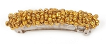 Golden Metallic Beadwrapped 70mm (2 3/4 in.) Hair Barrette BA1564