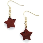 Jasper Stone Star Drop/Dangle gold plated Earrings EA1457