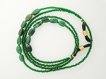 Eyeglass Chain, Emerald Green Agate Glasses Leash  GL1804