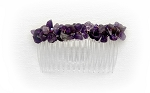 Amethyst Nugget Side Comb 82mm CO236