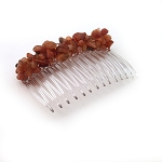 Carnelian Nugget Comb 70mm CO222