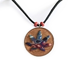 Red White and Blue Psychedelic Red Hippie Cannabis Leaf Necklace