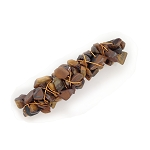 Tiger Eye Nugget-wrapped Hair Barrette 60mm BA1149