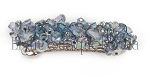 Blue Iris Nugget Barrette 60mm BA1700