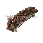 Unakite Nugget Barrette (50mm) BA481