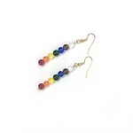 Crystal Chakra Earrings GP  EA457