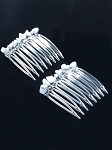 White Howlite Comb Pair CO331 (40mm)