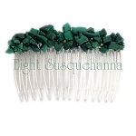 Malachite Nugget Comb (70mm)  CO367