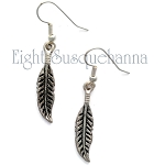 Pewter Feather Drop Earring EA1096