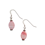Pink Shell Sterling Silver Drop/Dangle Earrings EAS886