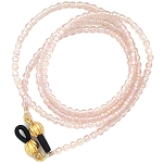 Peach Rainbow Beaded Glasses Leash GL2541