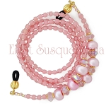 Pink Glasses Leash with Pearls and Crystals GL2544