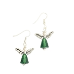 Ascending Angel Earrings Fern Green SP EA417