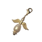 Gold and Cream Angel Charm
