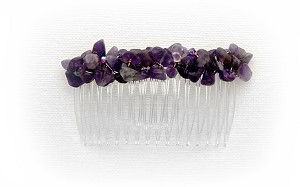 Amethyst Nuggets 82mm Comb