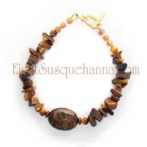 Tiger Eye and Bronzite Bracelet BR1135