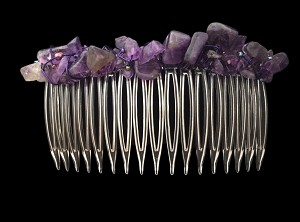 Amethyst Nugget Hair Comb (82mm) CO2602